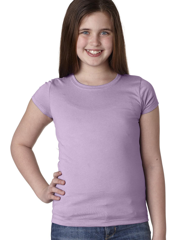 Next Level Youth Girls' Princess T-Shirt LILAC