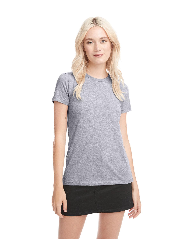 Next Level Ladies' Boyfriend T-Shirt HEATHER GRAY