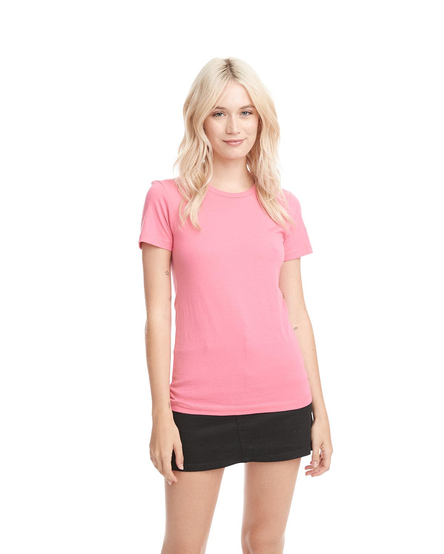 Next Level Ladies' Boyfriend T-Shirt HOT PINK