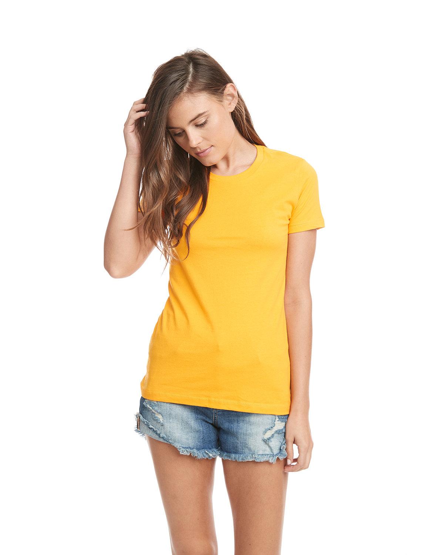 Next Level Ladies' Boyfriend T-Shirt GOLD