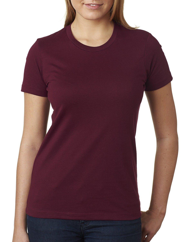 Next Level Ladies' Boyfriend T-Shirt MAROON