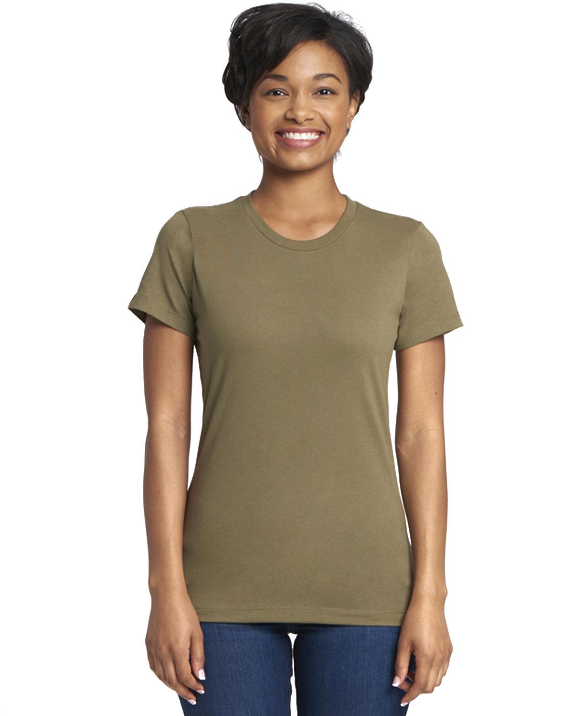 Next Level Ladies' Boyfriend T-Shirt MILITARY GREEN