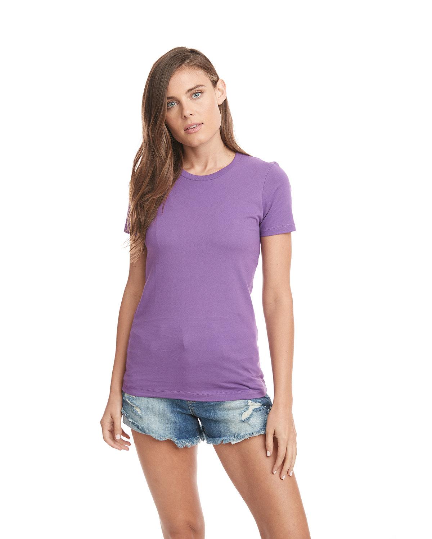 Next Level Ladies' Boyfriend T-Shirt PURPLE BERRY