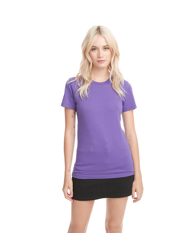 Next Level Ladies' Boyfriend T-Shirt PURPLE RUSH