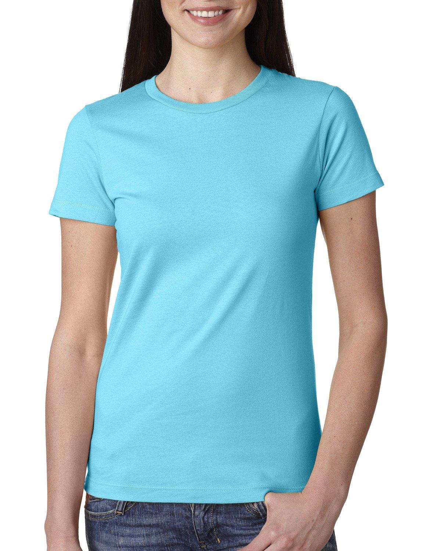Next Level Ladies' Boyfriend T-Shirt TAHITI BLUE