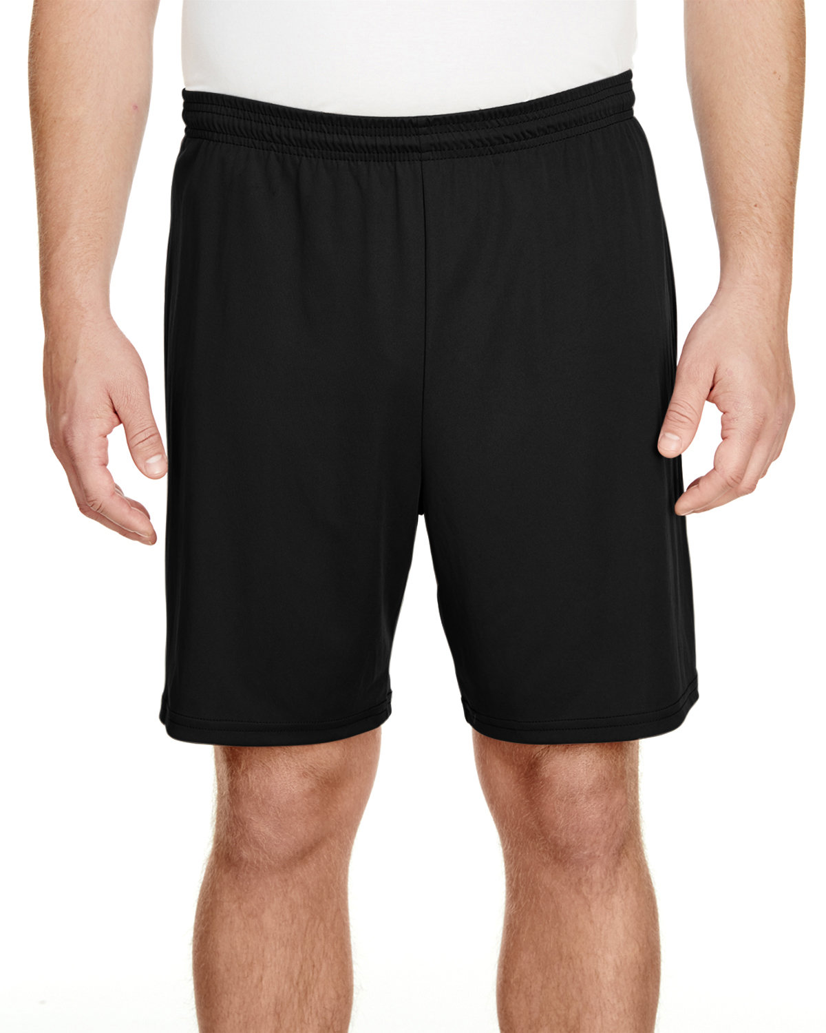 """A4 Adult 7"""" Inseam Cooling Performance Shorts BLACK"""