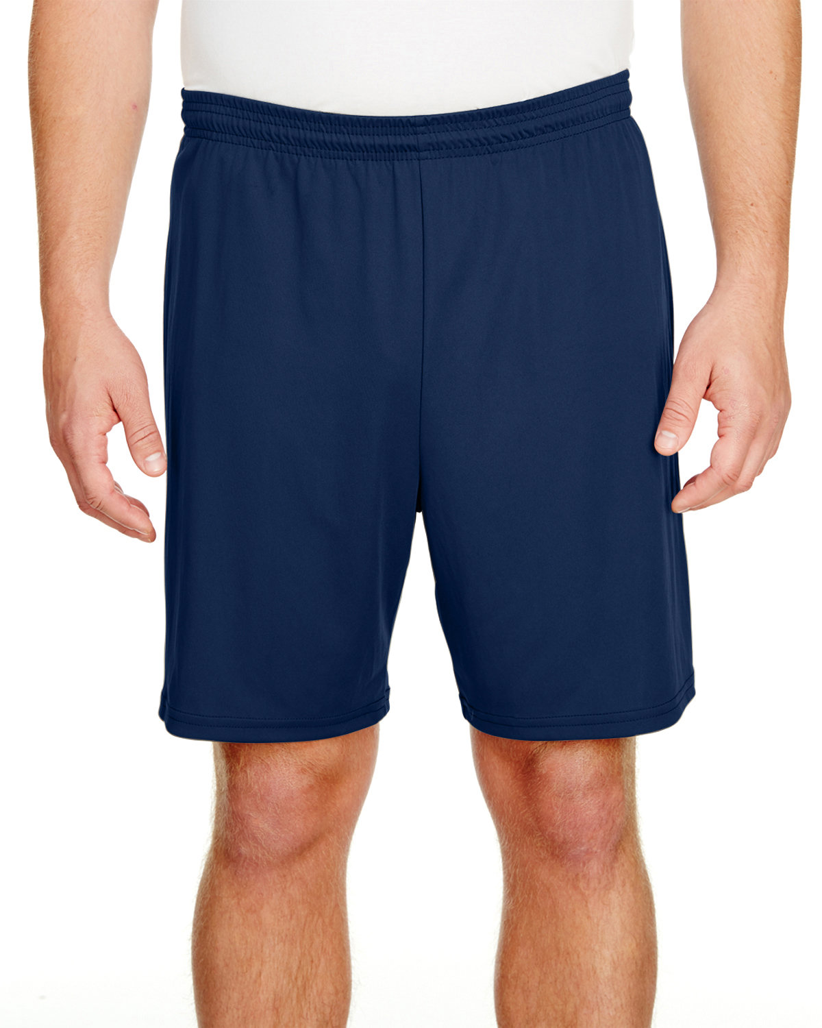 """A4 Adult 7"""" Inseam Cooling Performance Shorts NAVY"""