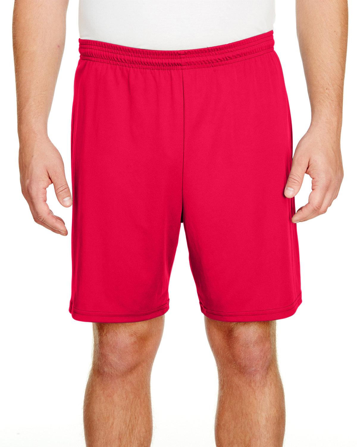 """A4 Adult 7"""" Inseam Cooling Performance Shorts SCARLET"""