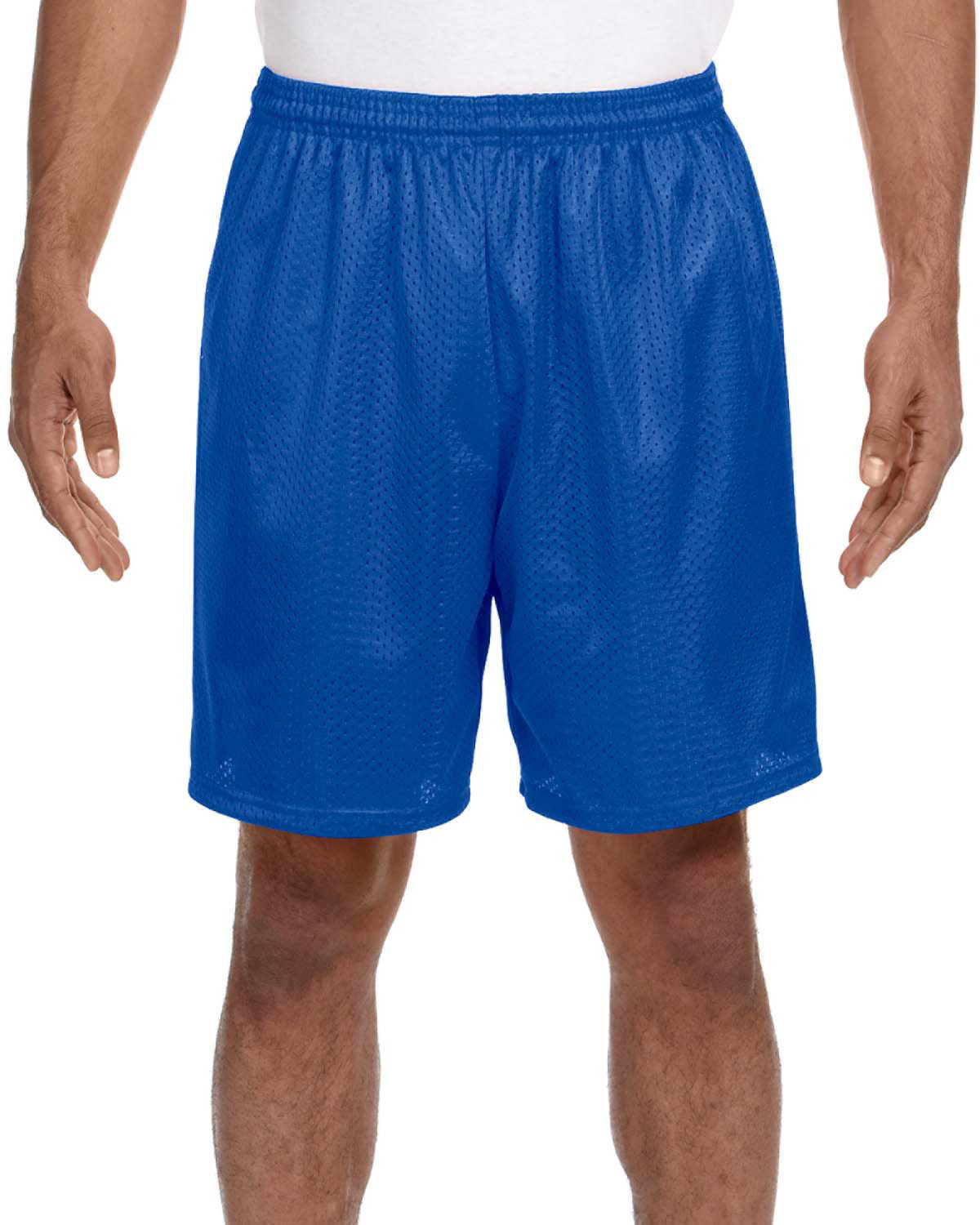A4 Adult Seven Inch Inseam Mesh Short ROYAL