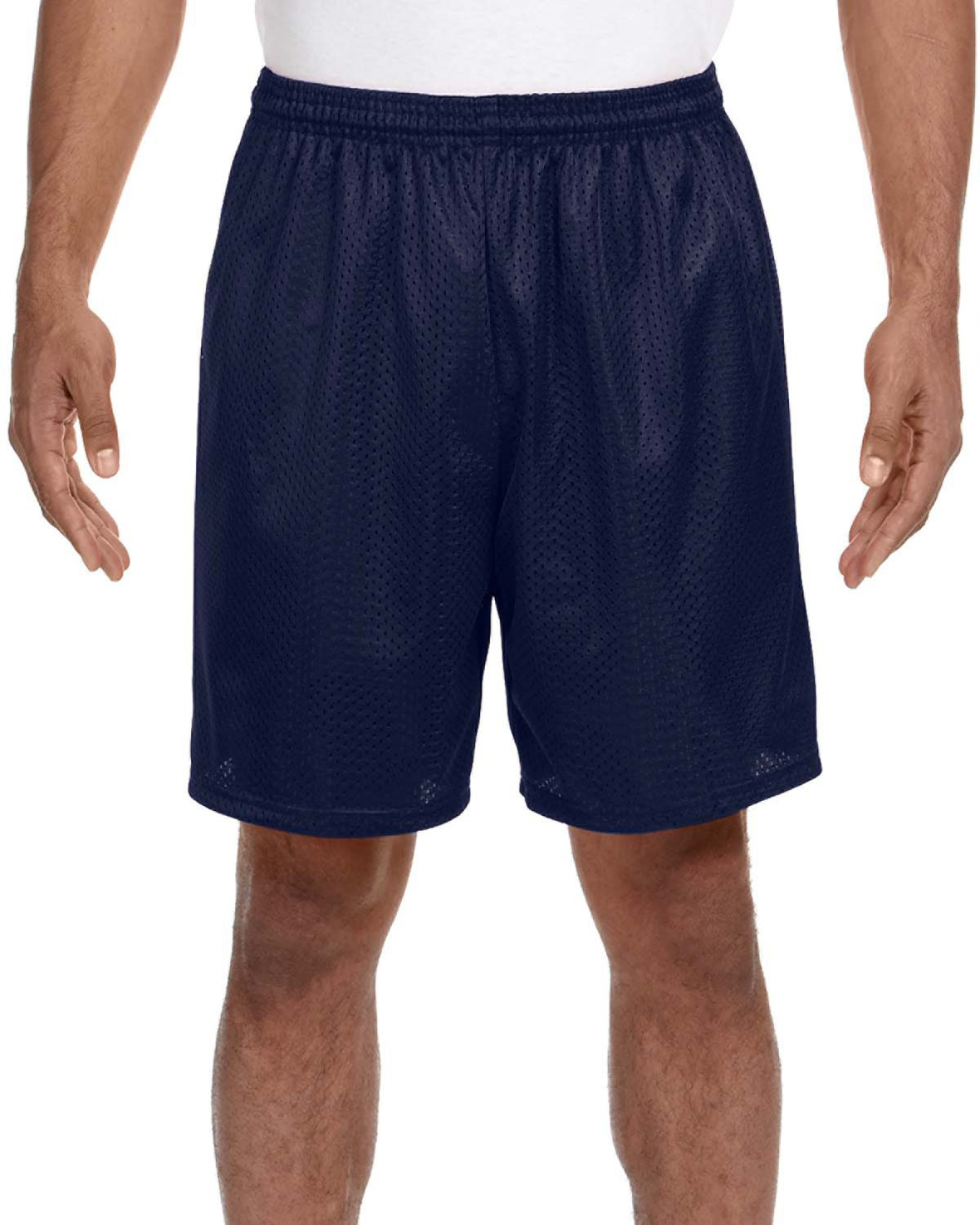 A4 Adult Seven Inch Inseam Mesh Short NAVY