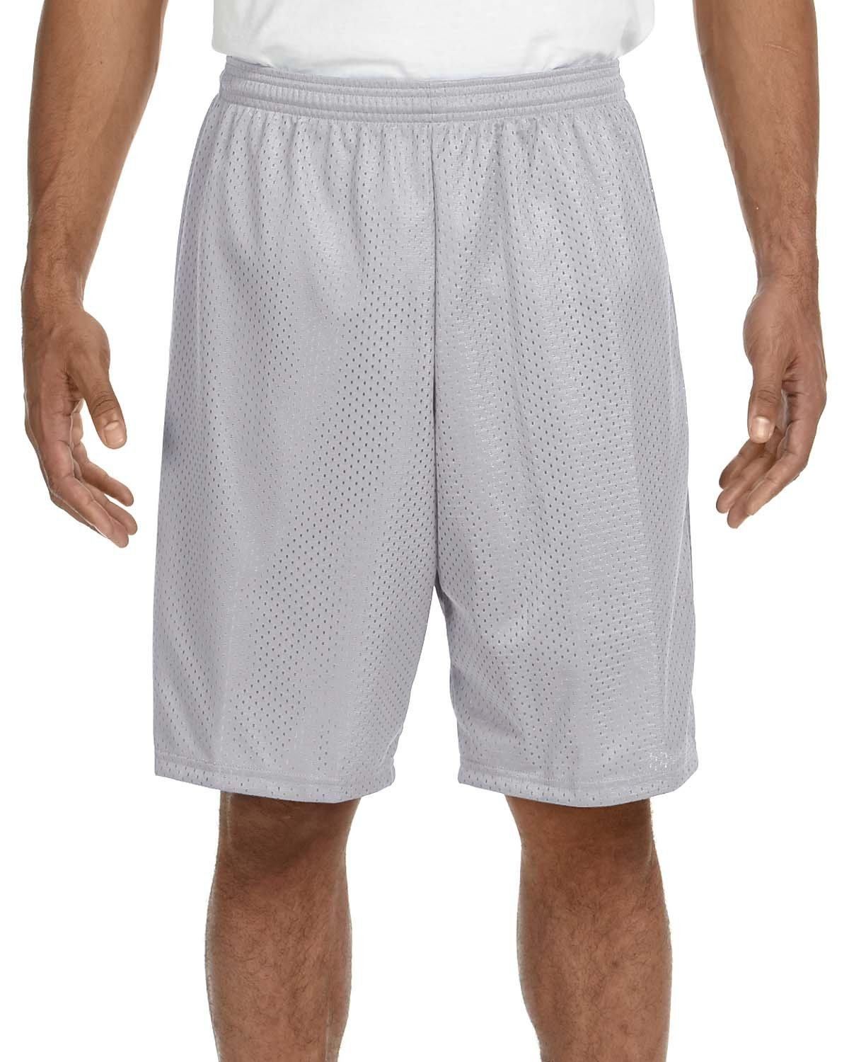 A4 Adult Tricot Mesh Short SILVER