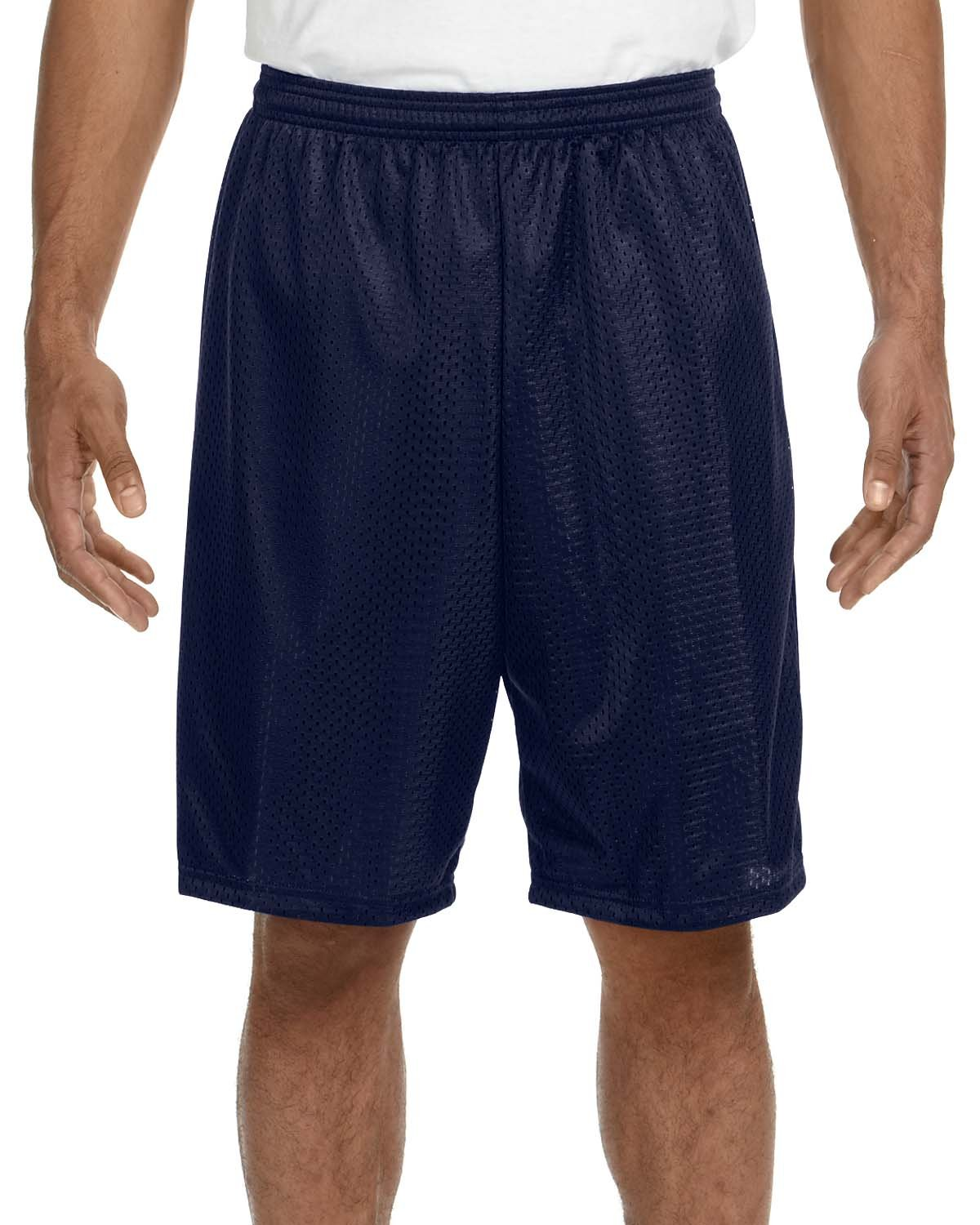 A4 Adult Tricot Mesh Short NAVY