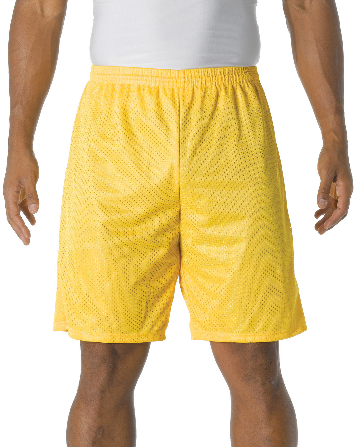 A4 Adult Tricot Mesh Short GOLD