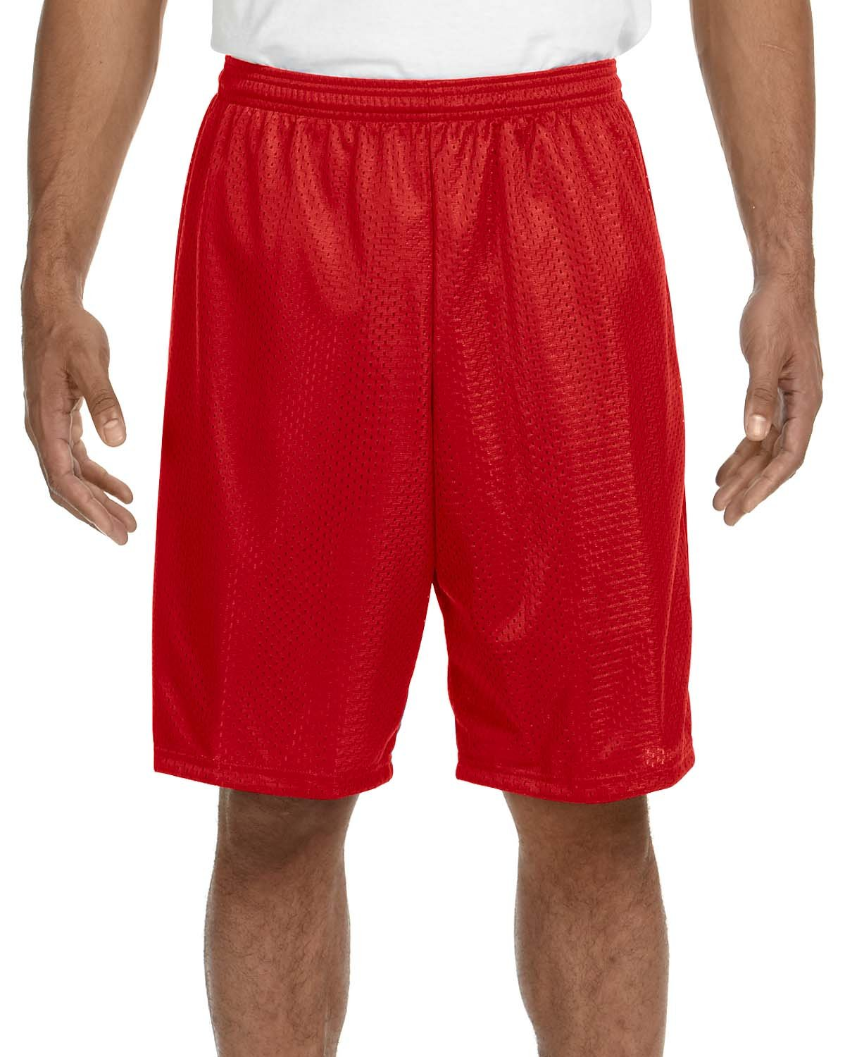 A4 Adult Tricot Mesh Short SCARLET