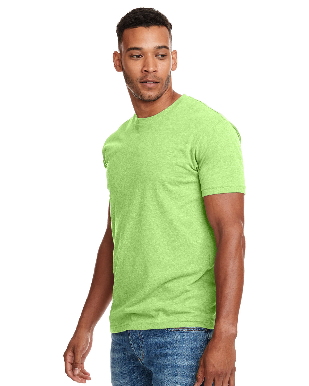 Next Level Unisex CVC Crewneck T-Shirt NEON HTHR GREEN