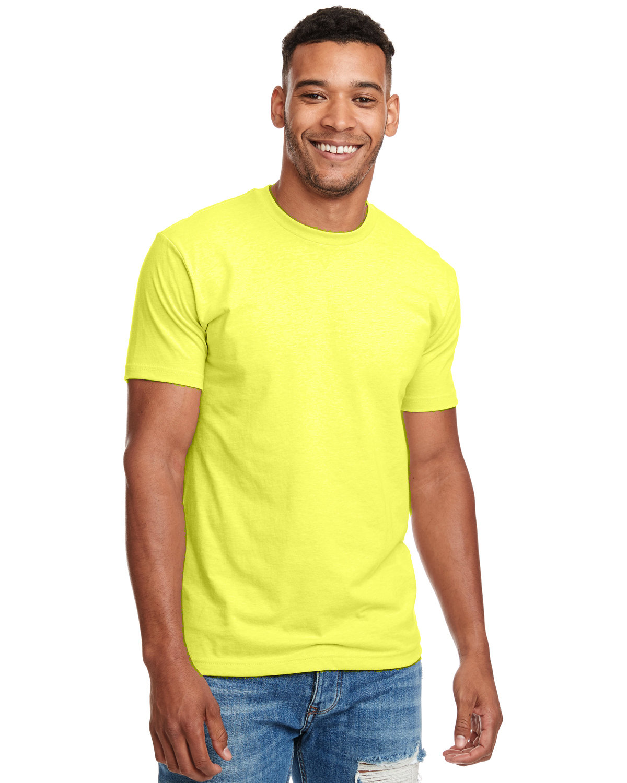 Next Level Unisex CVC Crewneck T-Shirt NEON YELLOW