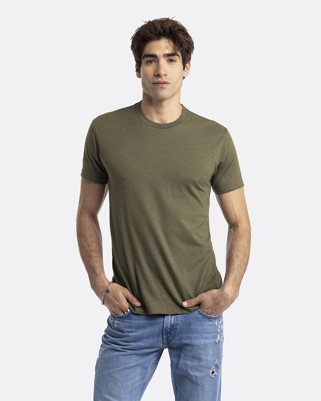 Next Level Unisex CVC Crewneck T-Shirt MILITARY GREEN