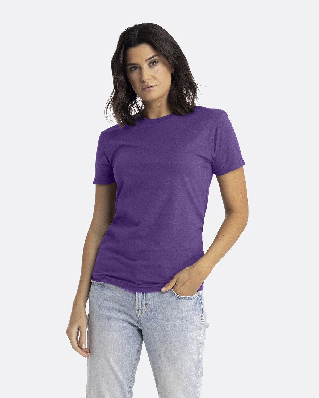 Next Level Unisex CVC Crewneck T-Shirt PURPLE RUSH