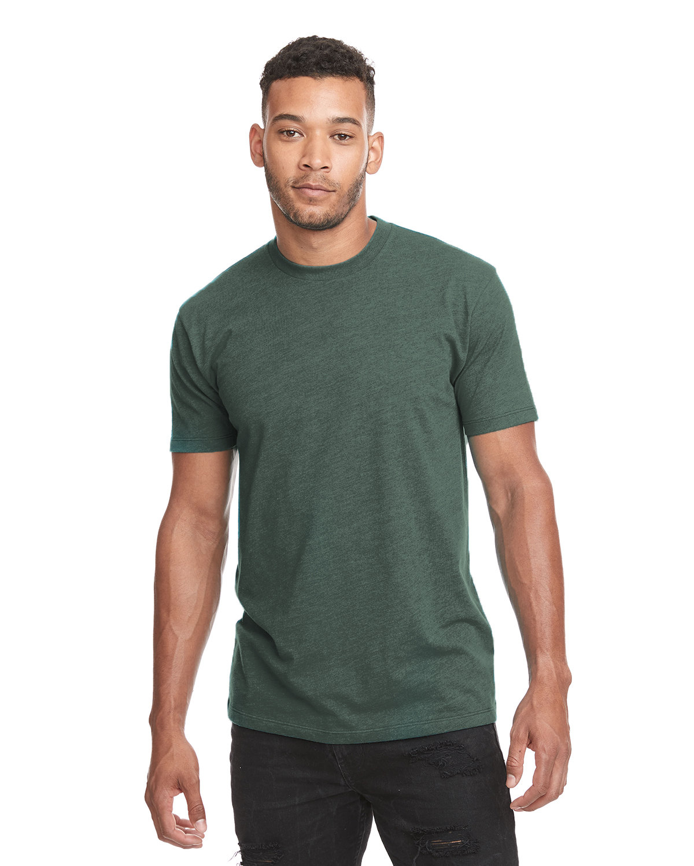 Next Level Unisex CVC Crewneck T-Shirt HTHR FOREST GRN