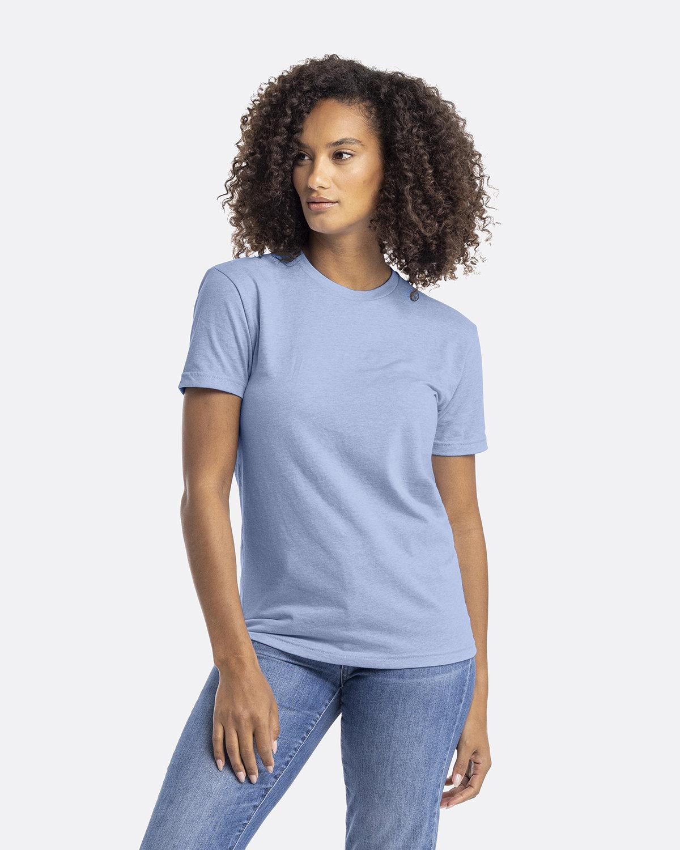 Next Level Unisex CVC Crewneck T-Shirt HTHR COLUM BLUE
