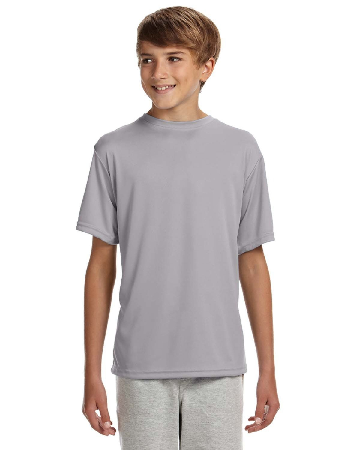 A4 Youth Cooling Performance T-Shirt SILVER