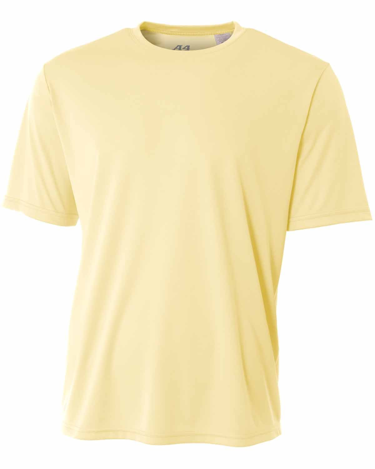 A4 Youth Cooling Performance T-Shirt LIGHT YELLOW