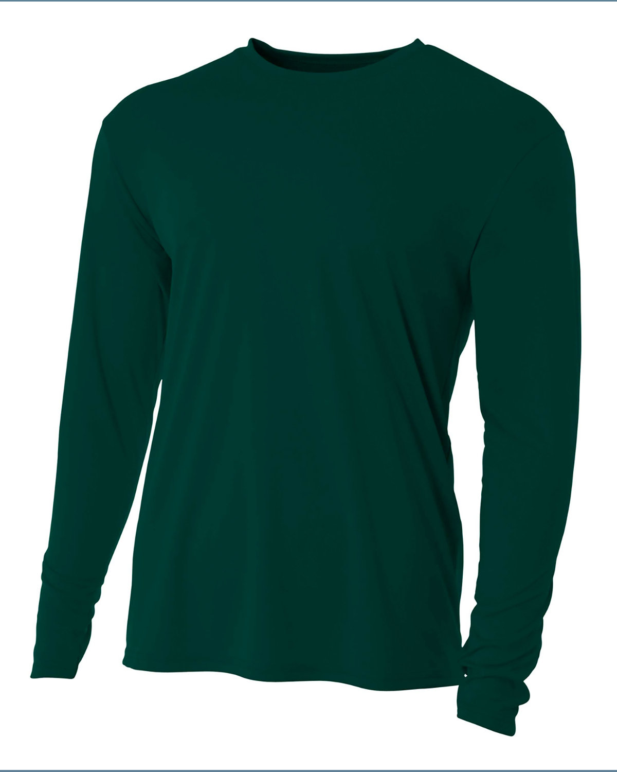 A4 Youth Long Sleeve Cooling Performance Crew Shirt FOREST GREEN