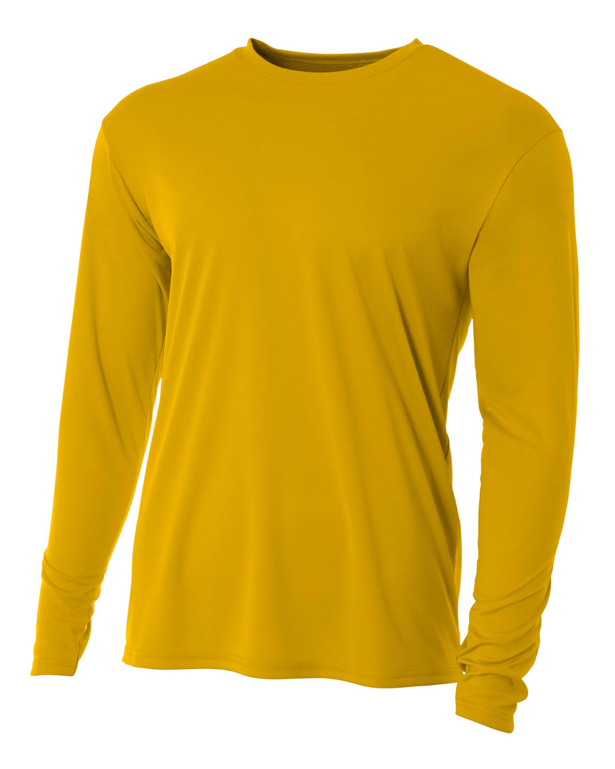 A4 Youth Long Sleeve Cooling Performance Crew Shirt GOLD