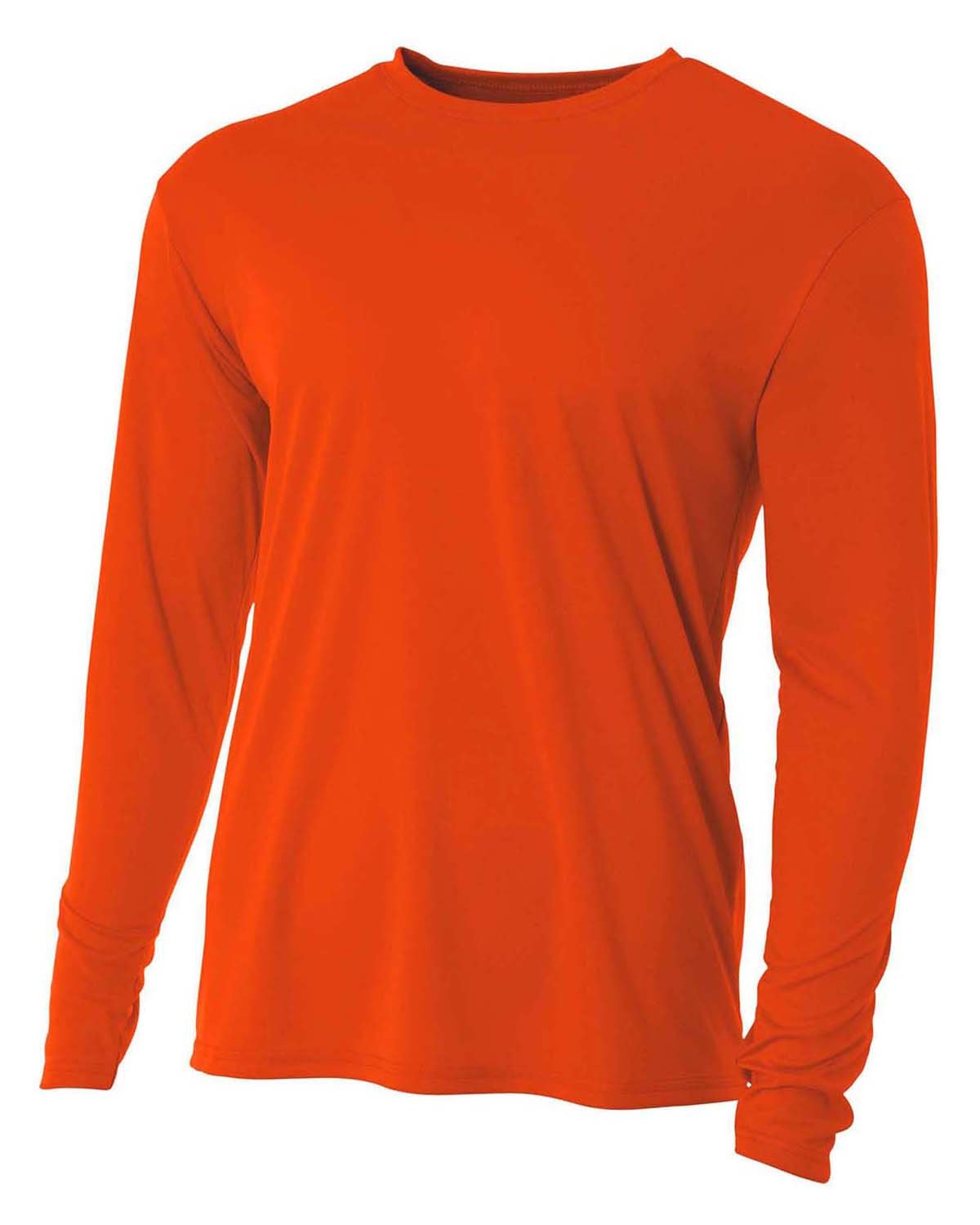A4 Youth Long Sleeve Cooling Performance Crew Shirt ATHLETIC ORANGE