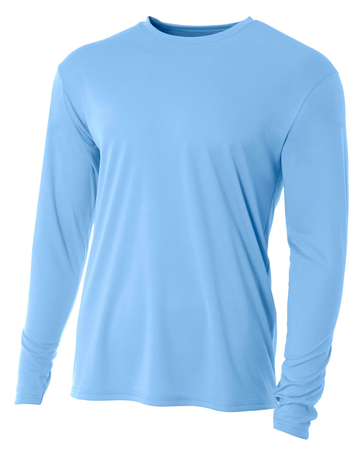 A4 Youth Long Sleeve Cooling Performance Crew Shirt LIGHT BLUE