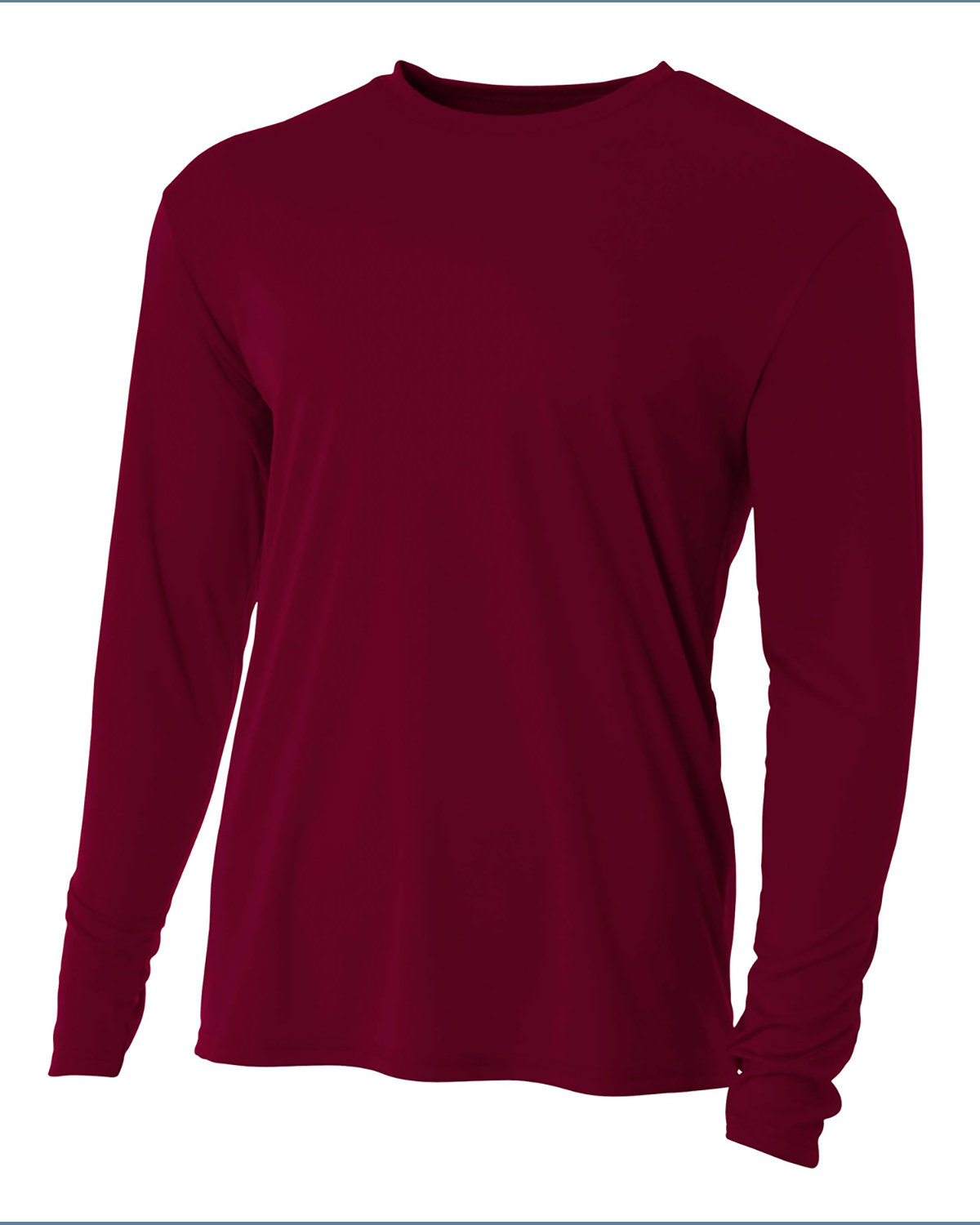 A4 Youth Long Sleeve Cooling Performance Crew Shirt MAROON