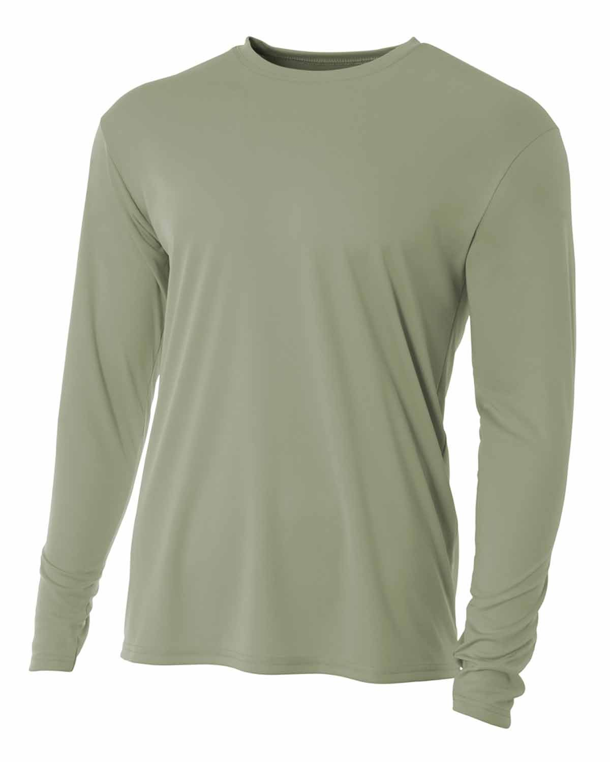 A4 Youth Long Sleeve Cooling Performance Crew Shirt OLIVE