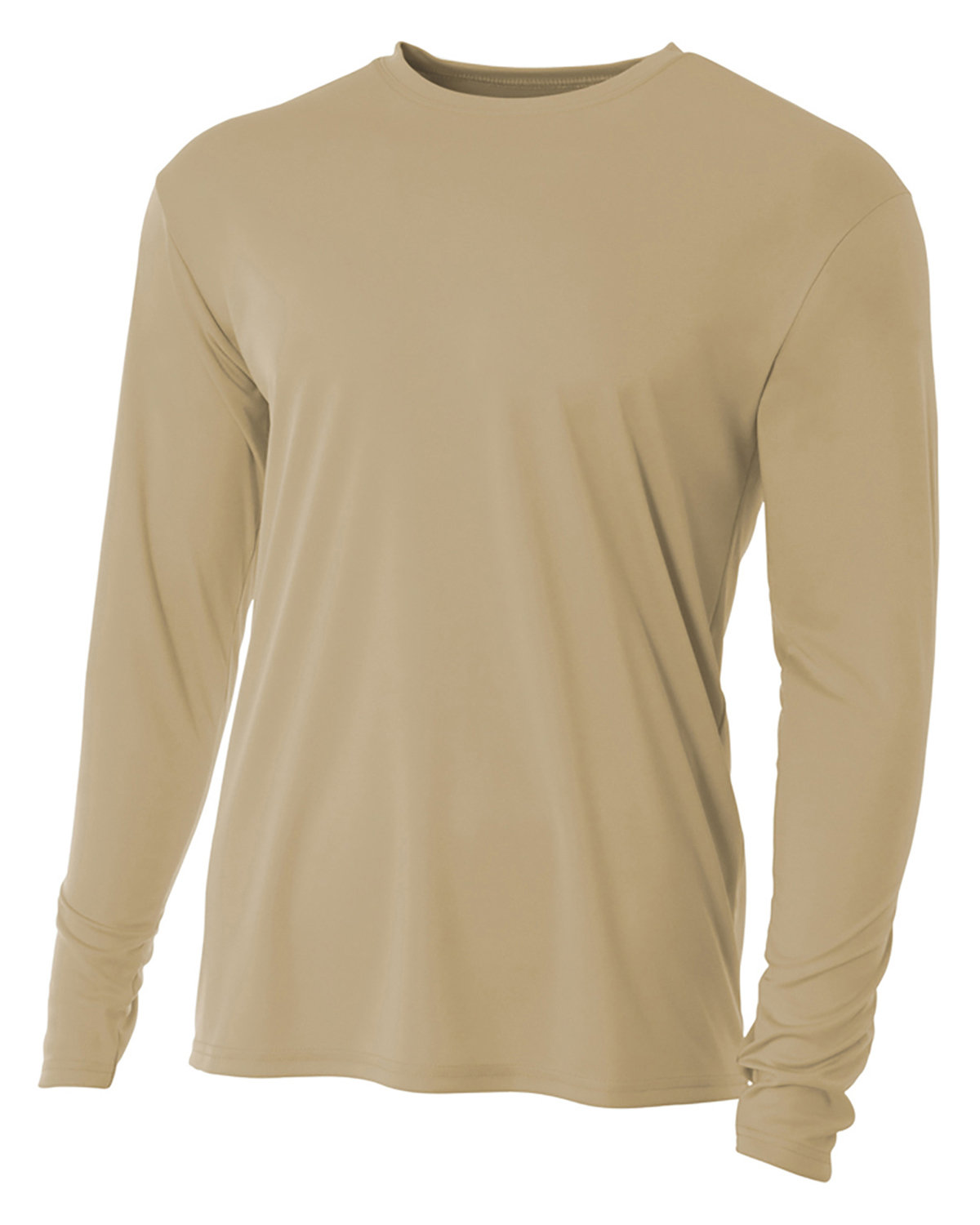 A4 Youth Long Sleeve Cooling Performance Crew Shirt SAND