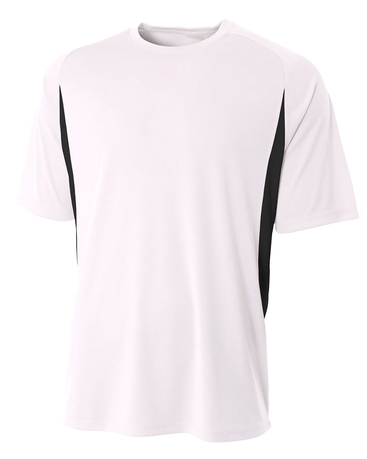 A4 Youth Cooling Performance Color Blocked T-Shirt WHITE/ BLACK
