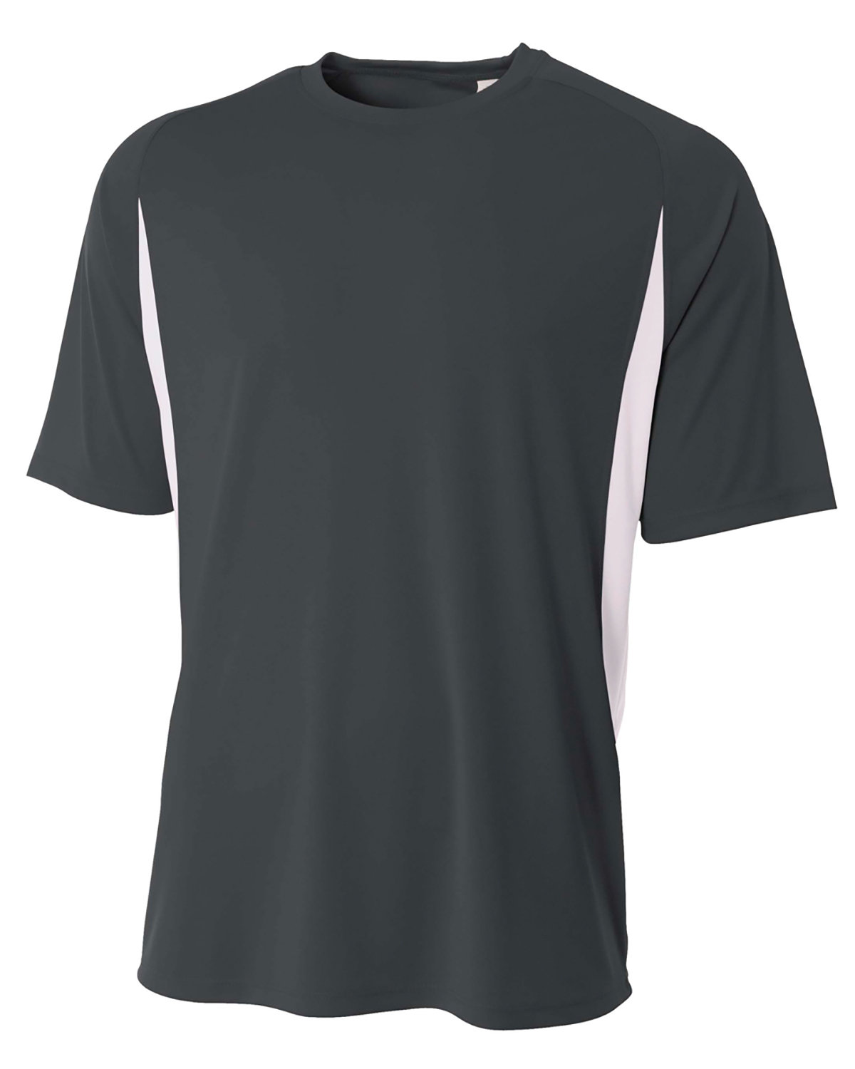 A4 Youth Cooling Performance Color Blocked T-Shirt GRAPHITE/ WHITE