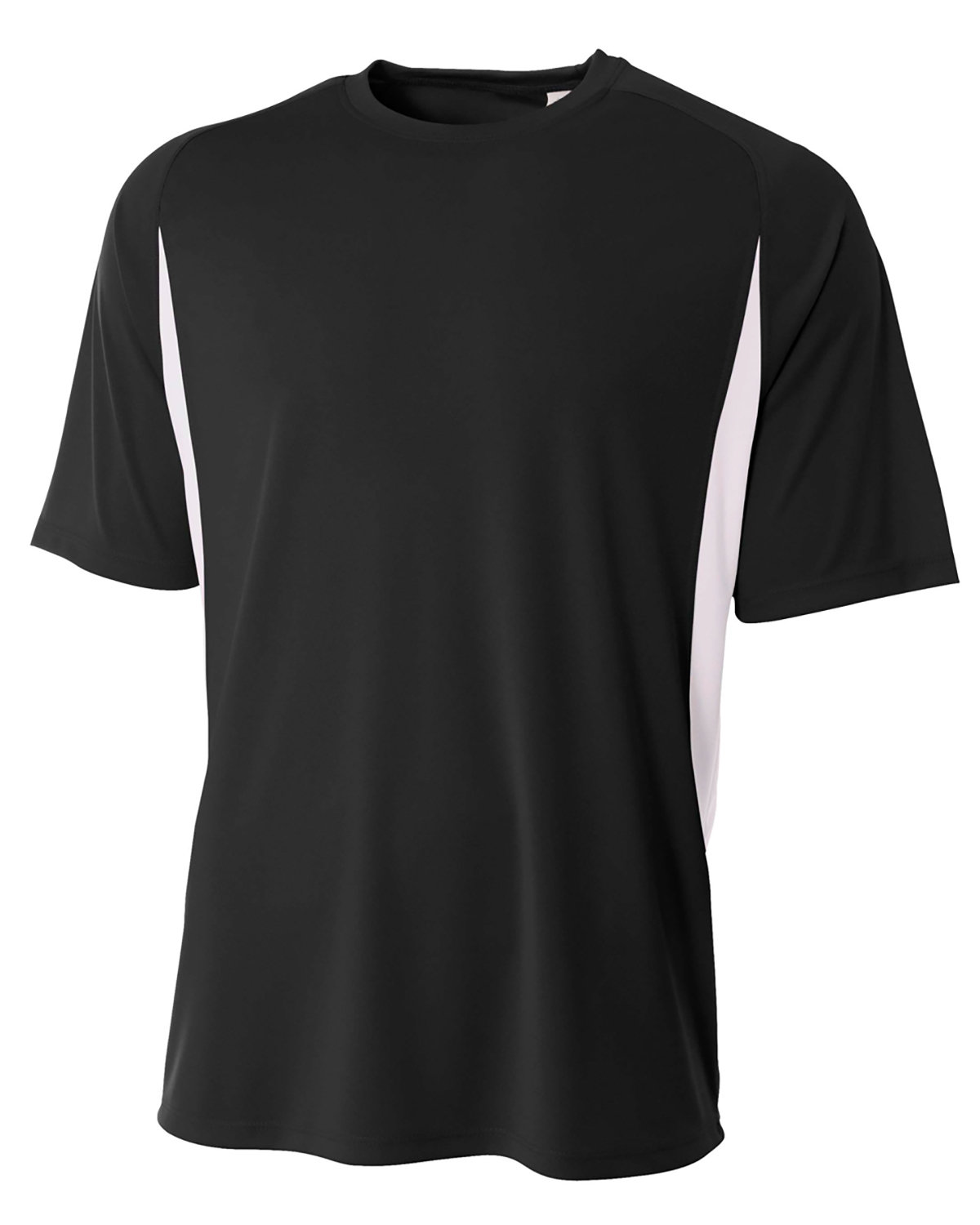 A4 Youth Cooling Performance Color Blocked T-Shirt BLACK/ WHITE