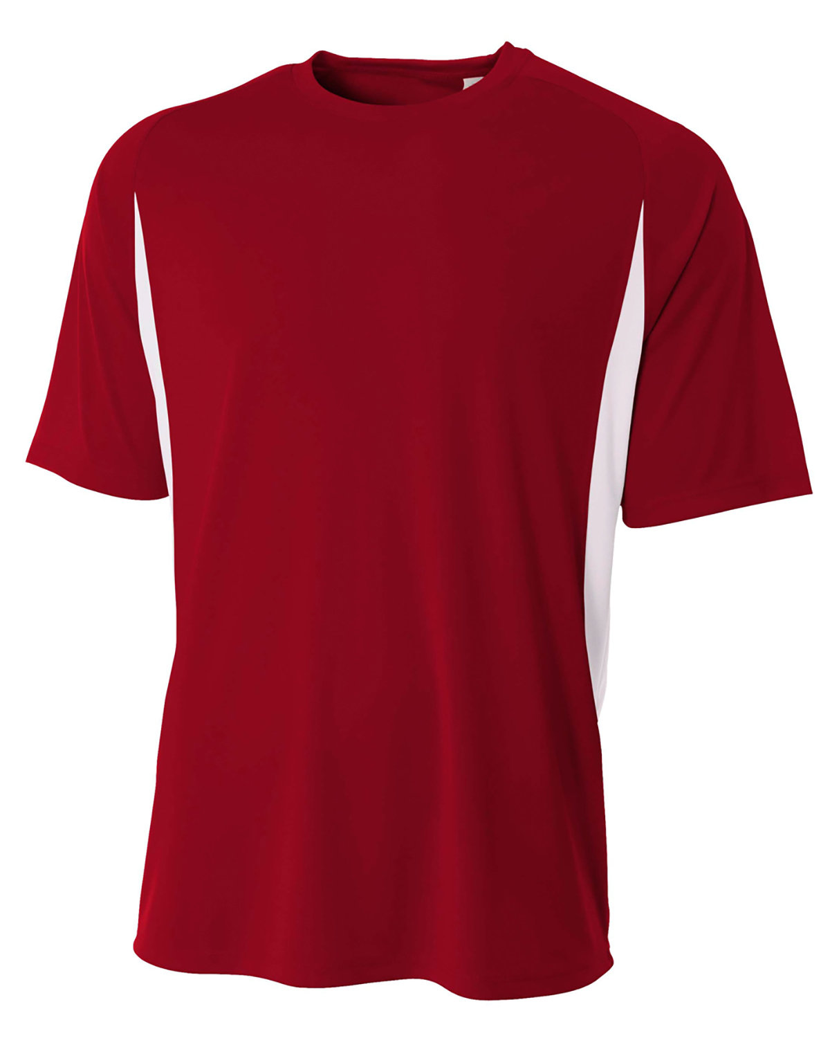 A4 Youth Cooling Performance Color Blocked T-Shirt CARDINAL/ WHITE