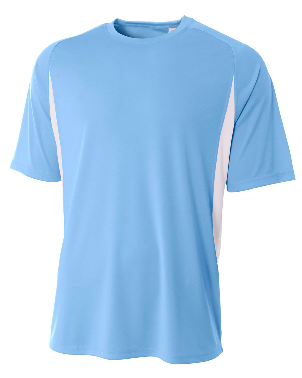A4 Youth Cooling Performance Color Blocked T-Shirt LIGHT BLUE/ WHT