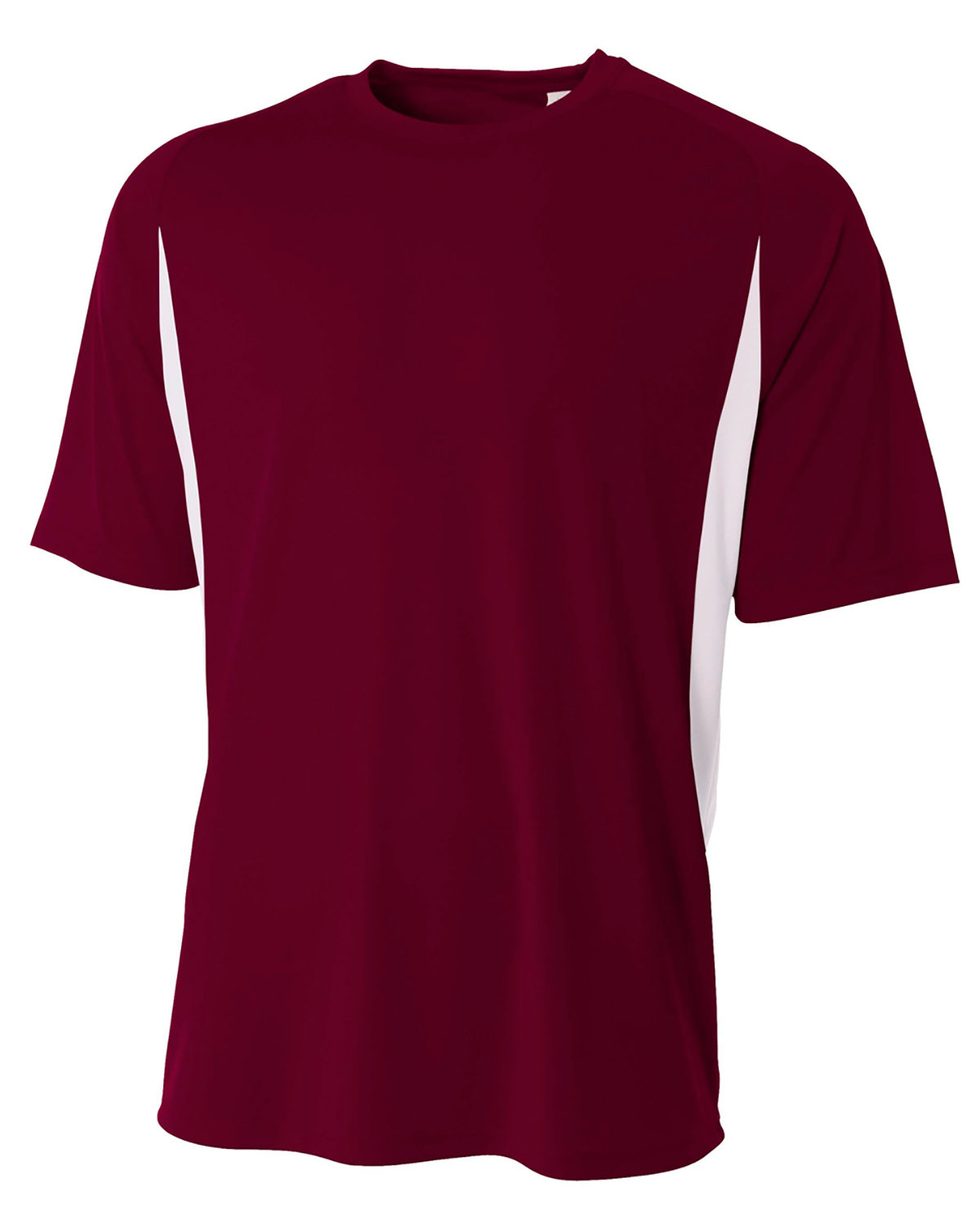 A4 Youth Cooling Performance Color Blocked T-Shirt MAROON/ WHITE
