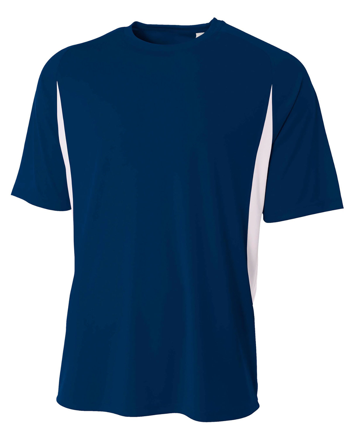 A4 Youth Cooling Performance Color Blocked T-Shirt NAVY/ WHITE