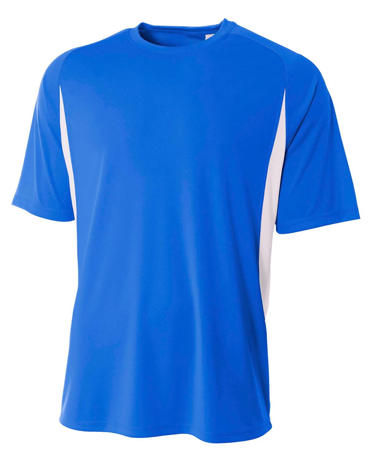 A4 Youth Cooling Performance Color Blocked T-Shirt ROYAL/ WHITE