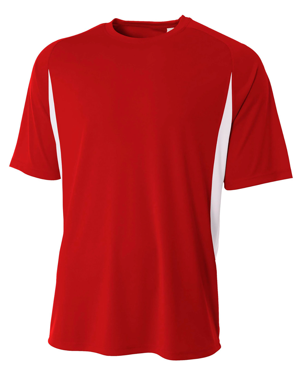 A4 Youth Cooling Performance Color Blocked T-Shirt SCARLET/ WHITE
