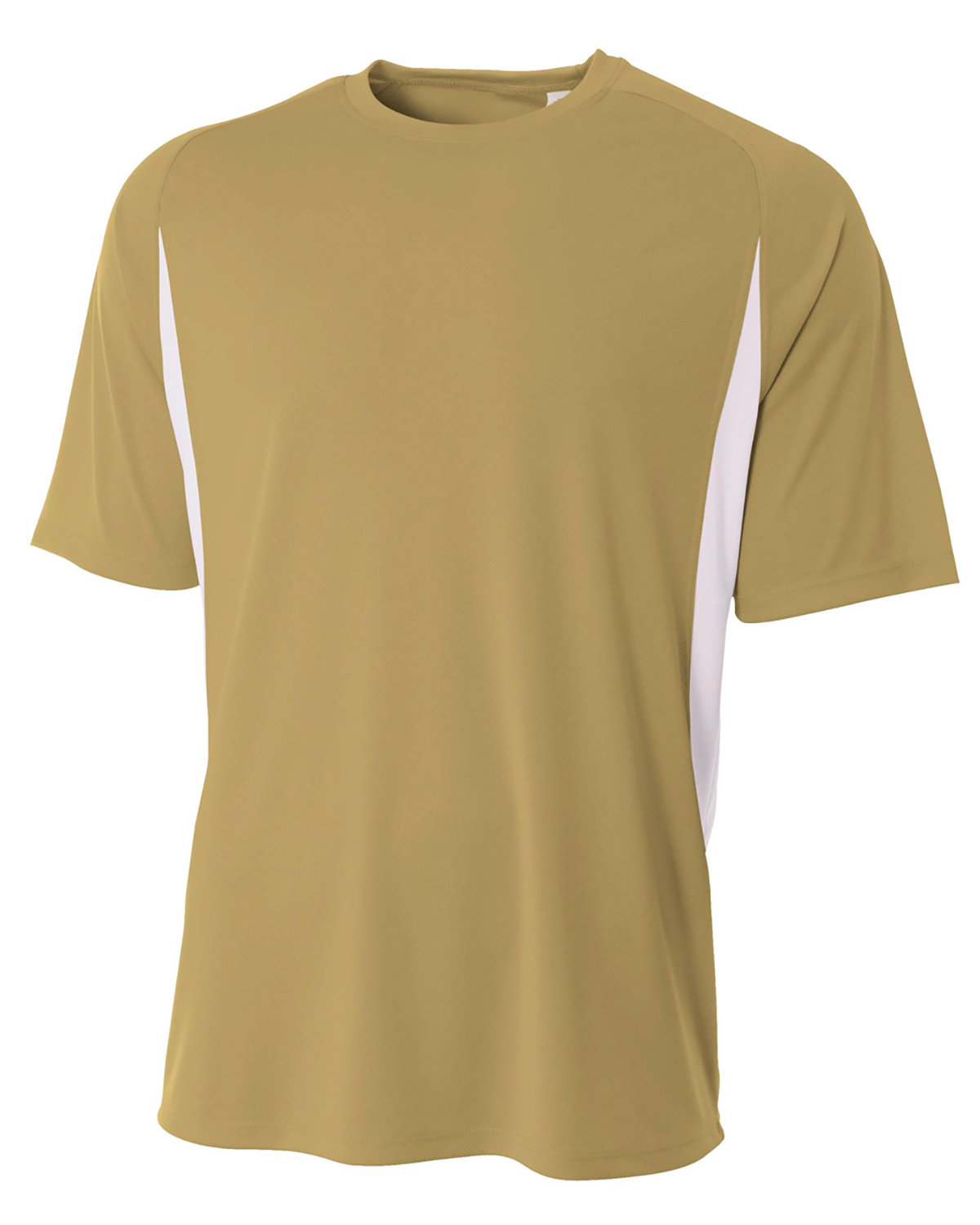 A4 Youth Cooling Performance Color Blocked T-Shirt VEGAS GOLD/ WHT