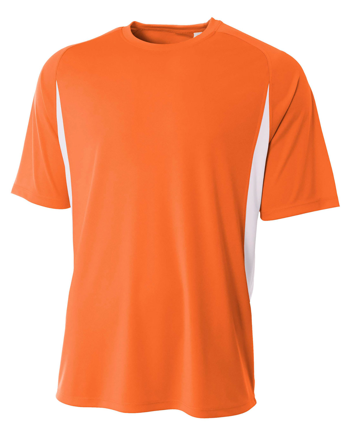 A4 Youth Cooling Performance Color Blocked T-Shirt ORANGE/ WHITE