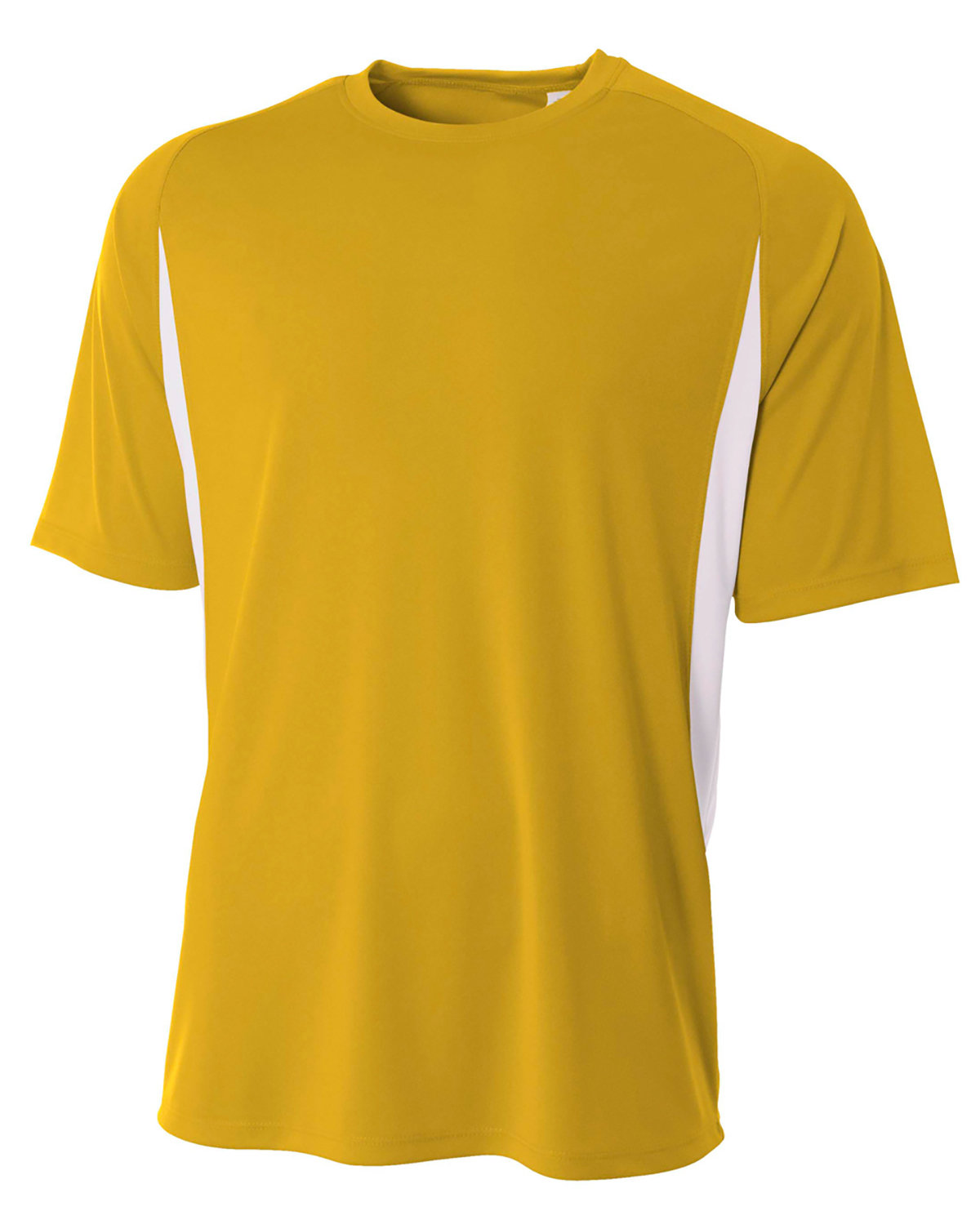 A4 Youth Cooling Performance Color Blocked T-Shirt GOLD/ WHITE