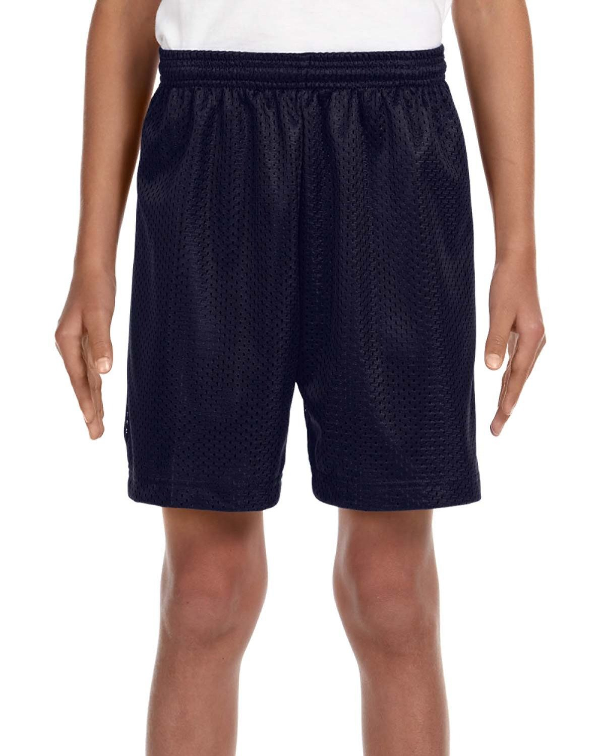 A4 Youth Six Inch Inseam Mesh Short NAVY