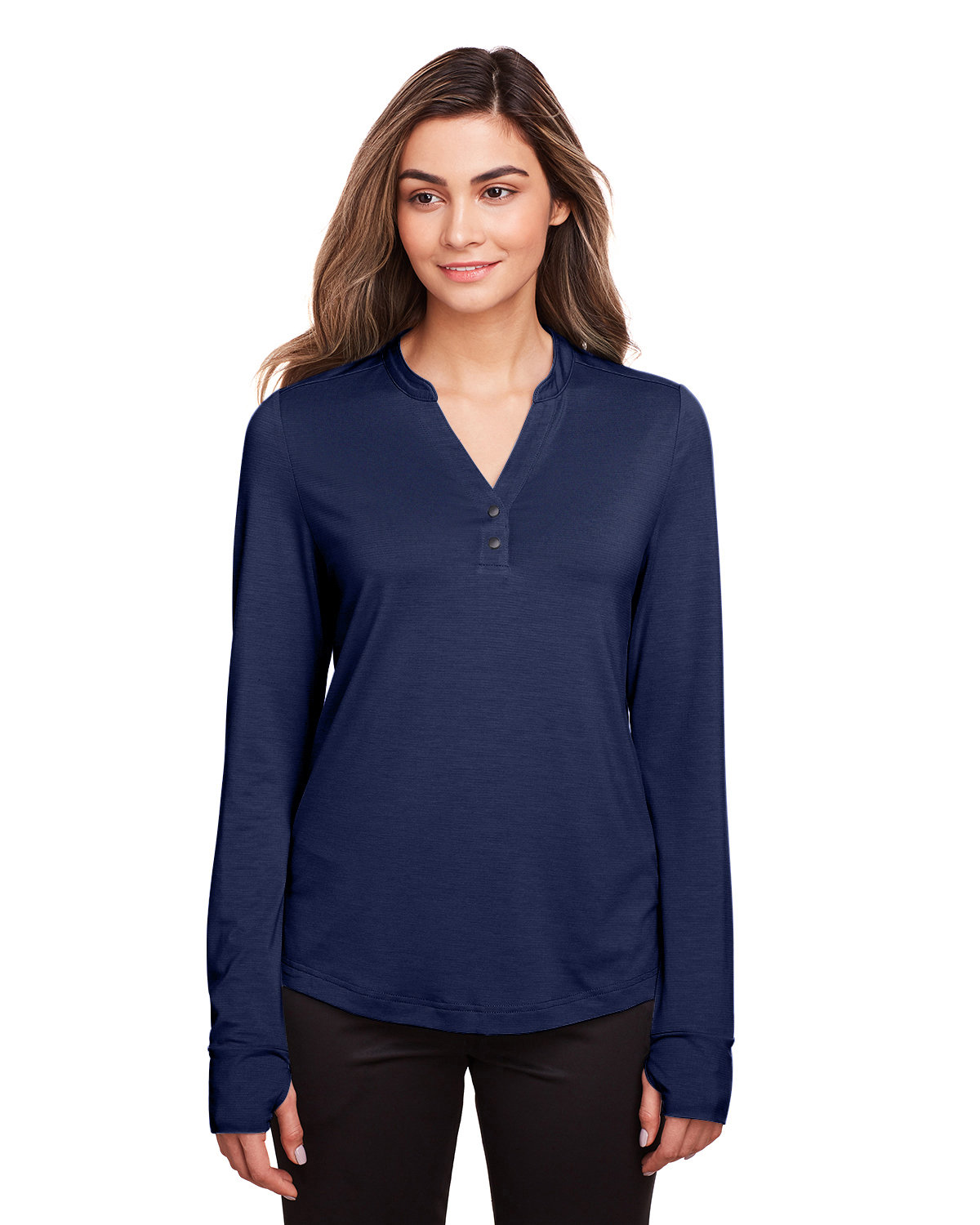 North End Ladies' Jaq Snap-Up Stretch Performance Pullover CLASSIC NAVY