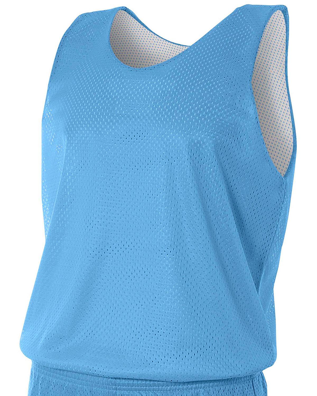 A4 Men's Reversible Mesh Tank LT BLUE/ WHITE