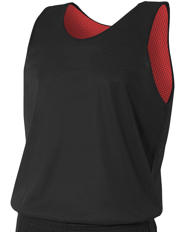 A4 Men's Reversible Mesh Tank BLACK/ RED