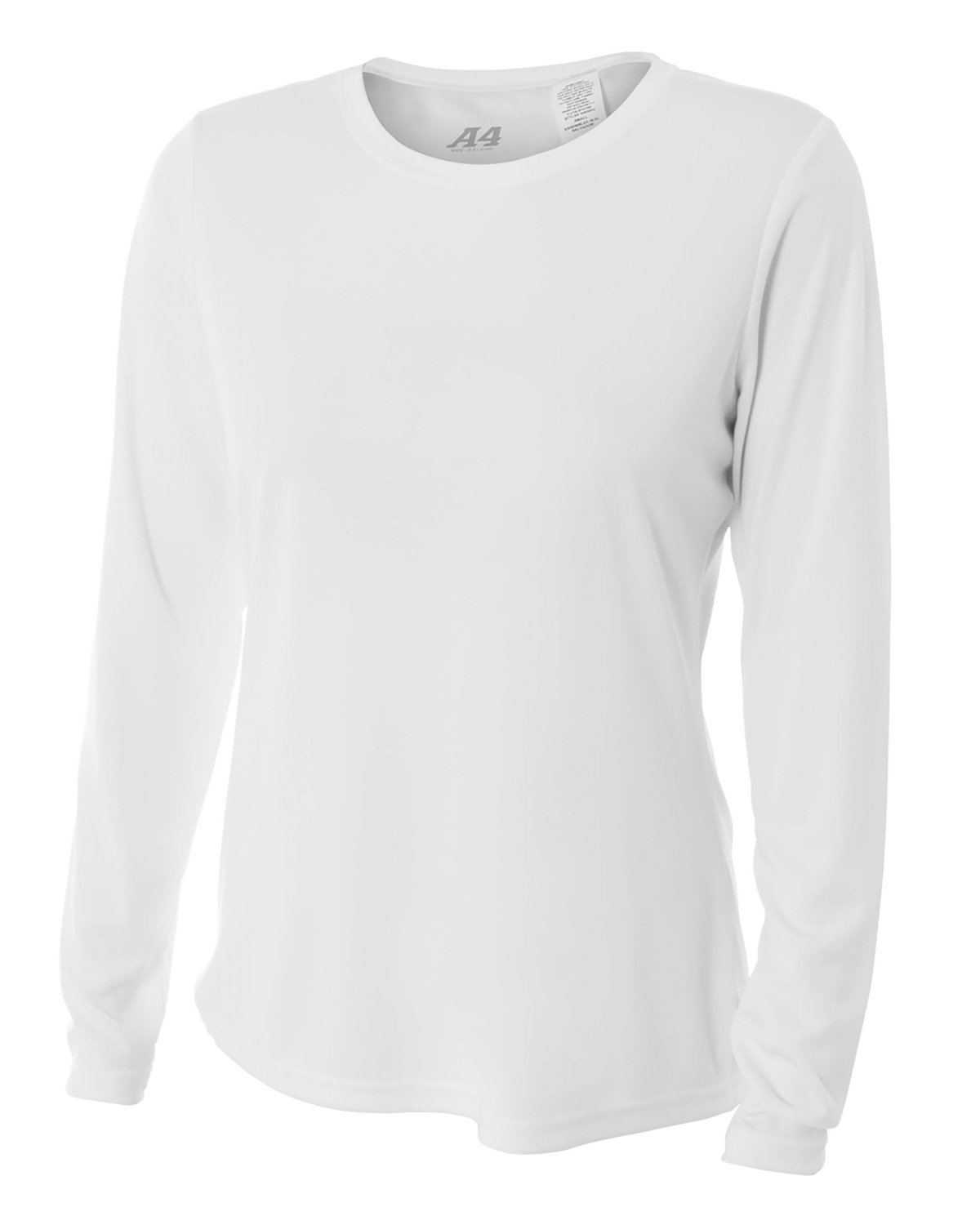 A4 Ladies' Long Sleeve Cooling Performance Crew Shirt WHITE
